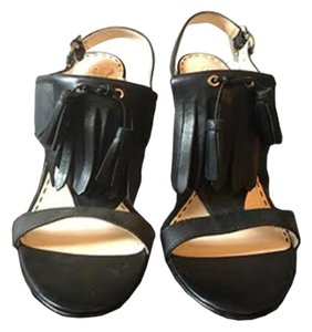 Coach Fringe Black Sandals