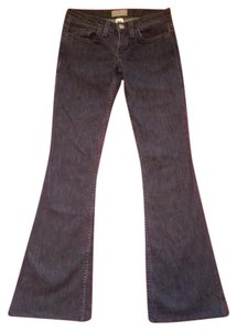 William Rast Designer Betty Low Rise Gray Flare Leg Jeans-Dark Rinse