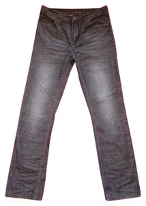 Buffalo David Bitton Straight Leg Jeans-Dark Rinse