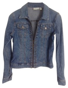 JLo Bluejean Crystal Womens Jean Jacket