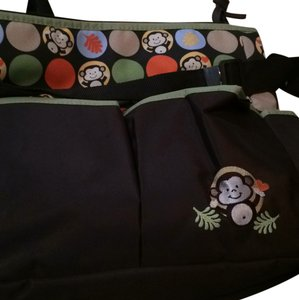 Brown/Green Diaper Bag