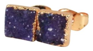 Private Collection Purple Druzy Agate Stud Earrings