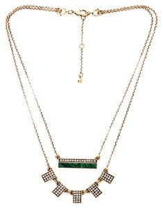 Private Collection Malachite Pave Stone Layer Necklace