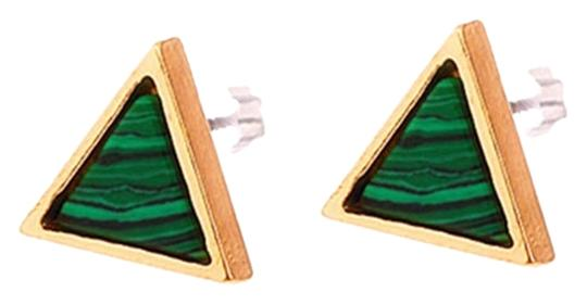 Preload https://item1.tradesy.com/images/malachite-natural-stone-triangle-stud-earrings-10494865-0-1.jpg?width=440&height=440