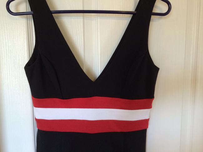 Silence + Noise short dress Black with Red and White Stripe on Tradesy