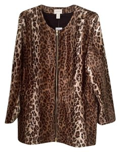 Chico's Animal Print/Leopard Jacket