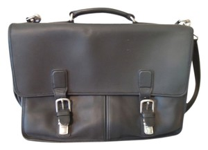 Coach Vintage Leather Black Messenger Bag