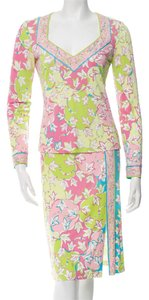 Emilio Pucci Blue Multicolor Viscose Dress