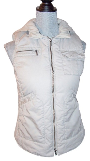 Item - Gray L Sold Out Puffer Reversible Zip Front Hood Vest Size 12 (L)