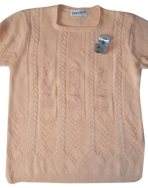Preload https://item3.tradesy.com/images/women-s-exclusive-collection-short-sleeve-embroidered-sweaterpullover-size-12-l-10495927-0-1.jpg?width=400&height=650