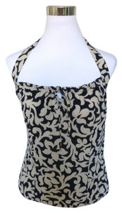 Ann Taylor Floral Top Black