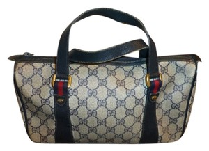 Gucci Vintage Purse Satchel in Navy