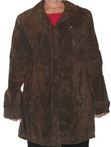 Dennis Basso Brown Leather Jacket