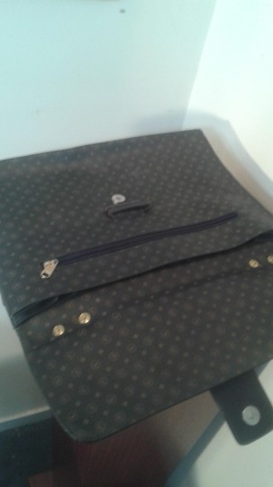 Other Vintage Leather dark brown with black, with golden f logos Clutch