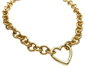 Tiffany & Co. Tiffany & Co 18 Karat Gold Heart Clasp Necklace