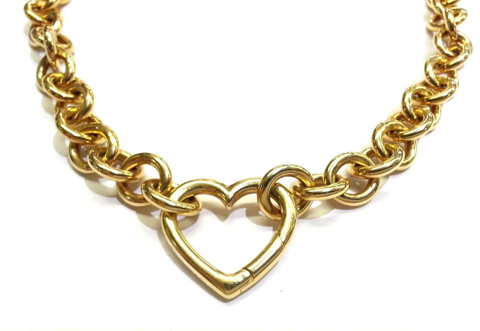 Tiffany co co 18 karat gold heart clasp necklace tradesy 12345678 mozeypictures Images