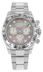Rolex Rolex Daytona 116509 DKLTMD 18K White Gold Automatic Men's Watch (11621)