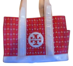 Tory Burch Tote Roomy Colorful Pink Beach Bag