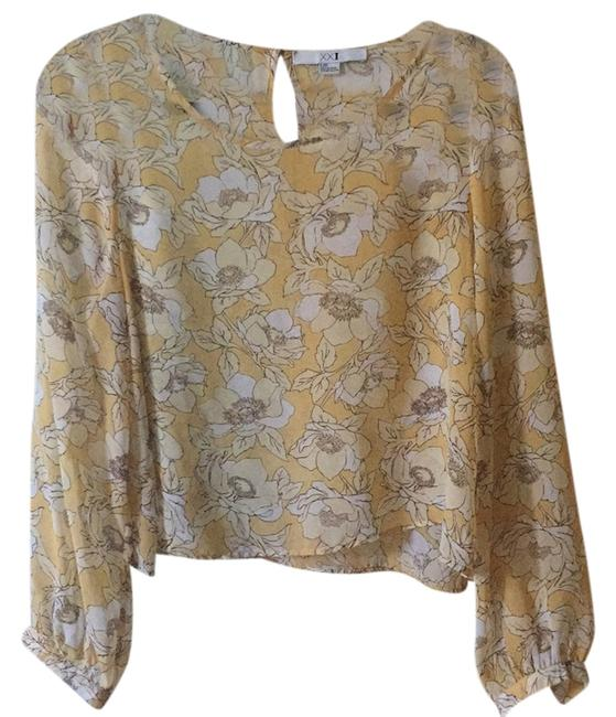 Preload https://item3.tradesy.com/images/forever-21-yellow-sheer-floral-blouse-size-12-l-10497697-0-1.jpg?width=400&height=650