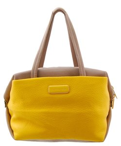 Marc Jacobs Classy Leather Multi-colored Tote in Yellow and Tan