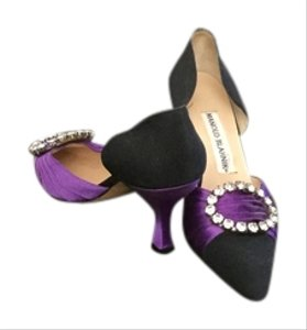 Manolo Blahnik Black and purple Pumps