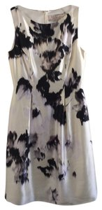 Lela Rose Abstract Silk Sheath Night Out Dress