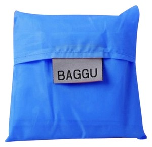 BAGGU New Packable Reusable Shopping Beach Gym Multi Purpose Ladies Mens Unisex Kids Free Shipping Gift Holiday Gift New Tote in Blue