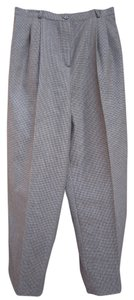 Harvé Benard Exclusive Trouser Pants Tan & Black Houndstooth