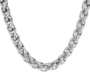 David Yurman David Yurman Sterling Silver & 14k Yellow Gold 8mm Wheat Choker Necklace