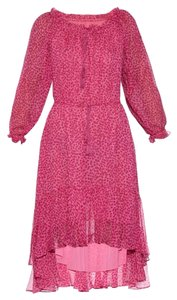 Diane von Furstenberg short dress Petal Dreams Pink Bohemian Off Shoulders on Tradesy