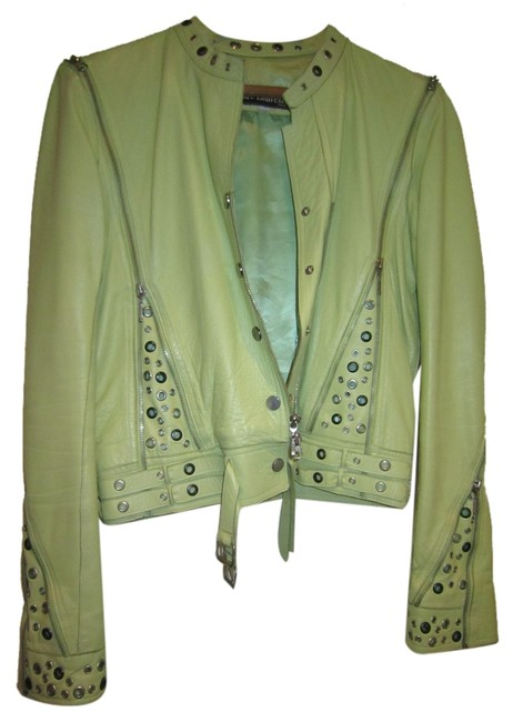 Preload https://item1.tradesy.com/images/lime-green-lambskin-funky-bomber-style-leather-jacket-size-8-m-10498945-0-1.jpg?width=400&height=650