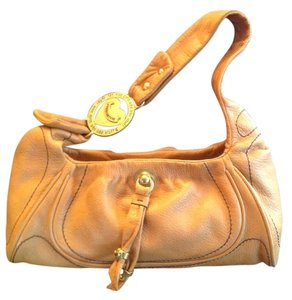 Juicy Couture Leather Satchel in Camel