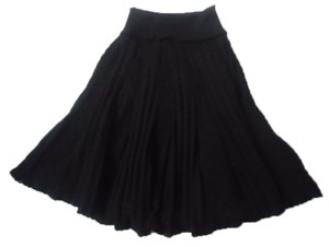 Anthropologie Moth Cable Knit Black Skirt