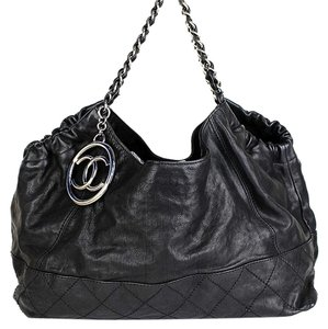 Chanel Coco Handbag Tote in Black Leather