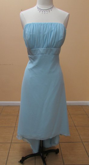 Alfred Angelo Robins Egg Blue Chiffon 6455 Modern Bridesmaid/Mob Dress Size 20 (Plus 1x)