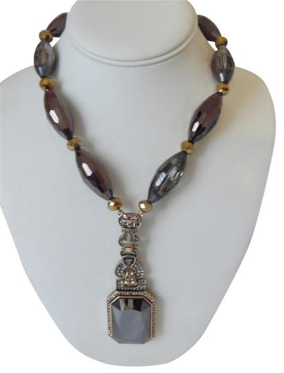 Preload https://item5.tradesy.com/images/heidi-daus-bronzetone-fab-fob-beaded-crystal-drop-12-inch-with-3-12-inch-extender-new-in-box-necklac-10499869-0-4.jpg?width=440&height=440