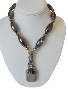 """Heidi Daus Heidi Daus """"Fab Fob"""" Beaded Crystal Drop Necklace 16 1/2 Inch with 3 1/2 Inch Extender (New In box)"""