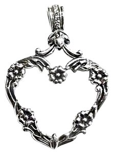 lyric Sterling Silver & Diamonds Heart Pendant