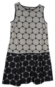 Ann Taylor LOFT short dress navy/cream on Tradesy