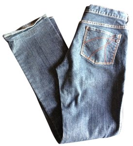 New York & Company Mid Rise Dark Denim Boot Cut Jeans-Dark Rinse