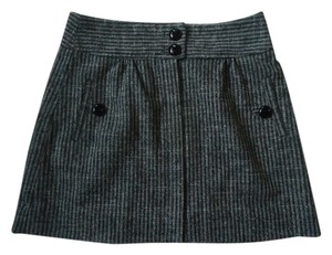 Anthropologie Wool Herringbone Mini Skirt