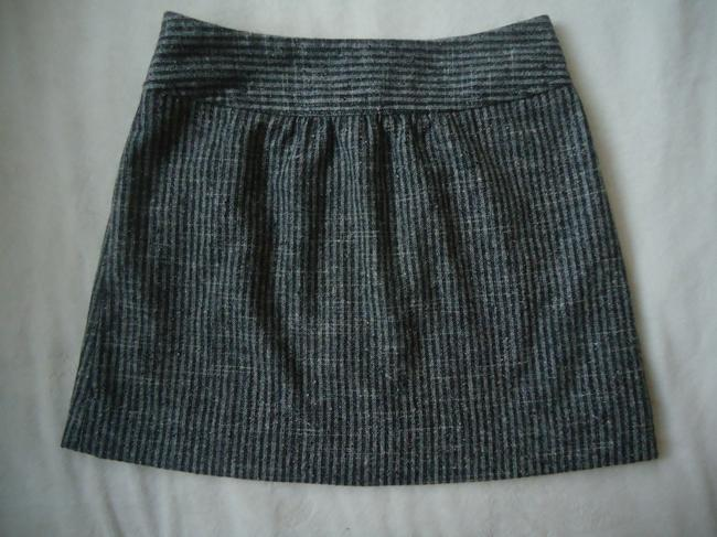 Anthropologie Wool Herringbone Taikonhu Mini Skirt