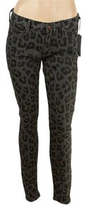 Mother Cheetah Skinny Jeans-Dark Rinse