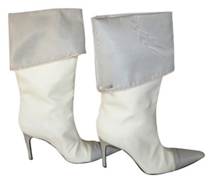 Chanel off white & grey Boots