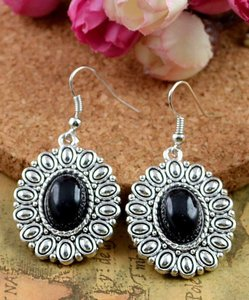 Anitqued Black Drop Earrings Free Shipping