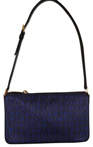 BVLGARI Signature Print Handbag And Gold Shoulder Bag