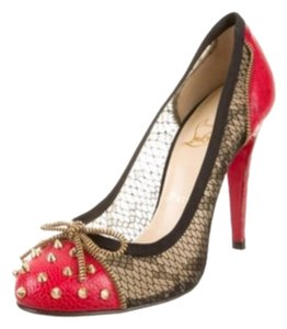 Christian Louboutin Red/Gold Pumps
