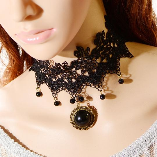 Bogo Free Crocheted Punk Cosplay Necklace Free Shipping