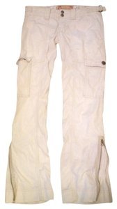 Abercrombie & Fitch Corduroy Boot Cut Pants Cream