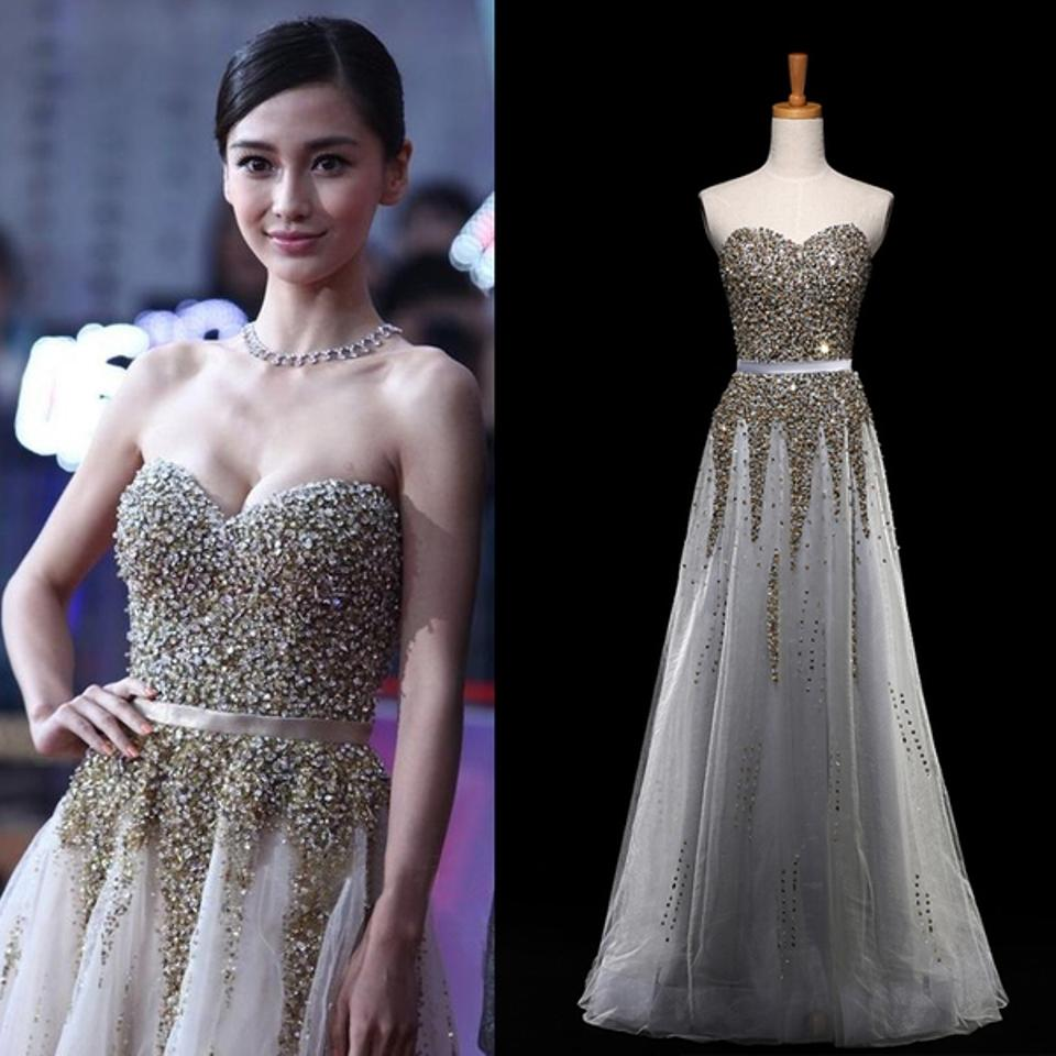 Grey Lace and Sequin Classic Reception Modern Wedding Dress Size 0 ...